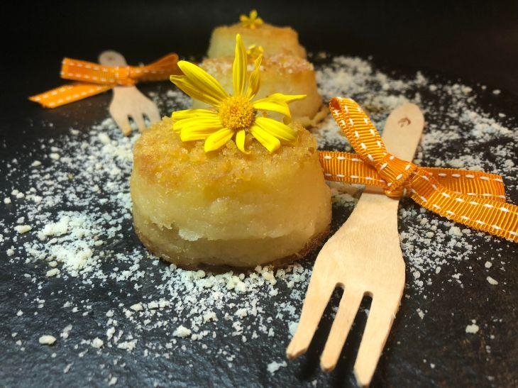 Tortini di patate con cuore di prosciutto cotto e gorgonzola