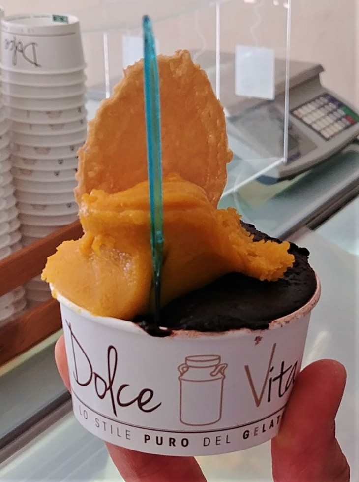 Dolcevita opera coppetta mango cremino vegano