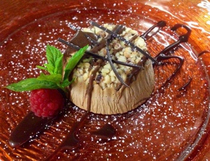 rist bellaria rivergaro mousse caffe cioccolato e granella nocciole